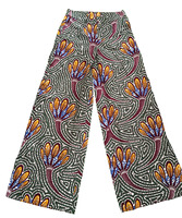 African Wax Print Cargo Pants Women Gothic Streetwear Wide Leg Pants Trousers With Side Pockets
