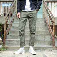 Mens Modis Cotton Straight Pants Loose Pants Big Trend Japanese Trousers Four Seasons Fashionable Korean Trousers Pants Men