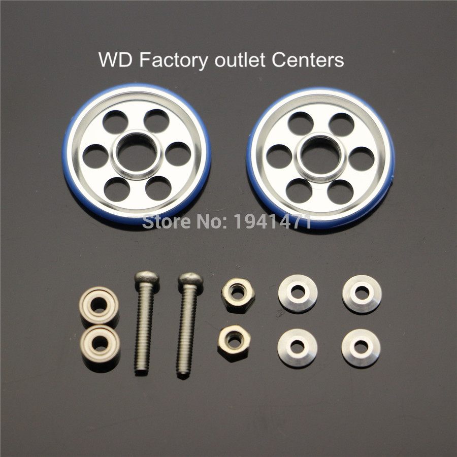 RFDTYGR 19mm 알루미늄 롤러 / 플라스틱 링 자체 제작 부품 Tamiya MINI 4WD19mm 6 Rund Holes Guide-Wheel D035 2Sets / lot
