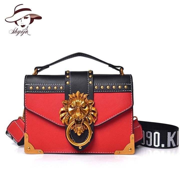 b2e86fff83a92e Luxury Fashion Women Messenger Bags Rivet Shoulder Bag High Quality Girls  Party Evening Tote Small Oblique