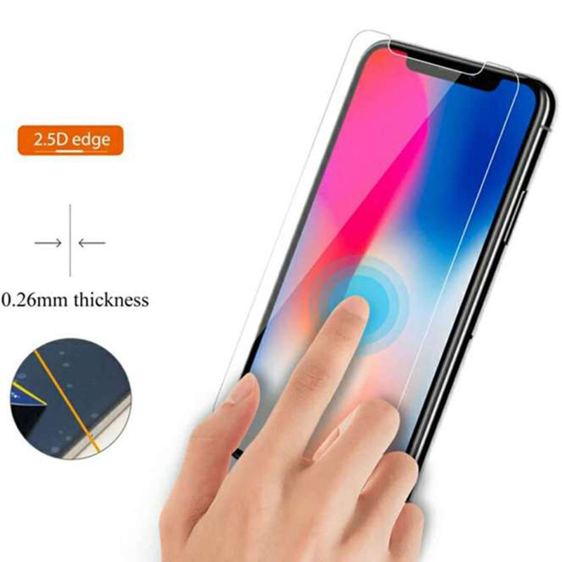 EXUNTON 2PCS For Doogee X80 X70 2 5D Super Clear Tempered Glass For Doogee X70 X80 Anti Scratch Screen Protector Film 9H Glass in Phone Screen Protectors from Cellphones Telecommunications