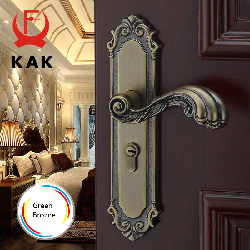 KAK Европейский стиль немой номер дверной замок ручка модные межкомнатные дверные ручки Замок роскошная Противоугонная блокировка ворот мебель оборудование