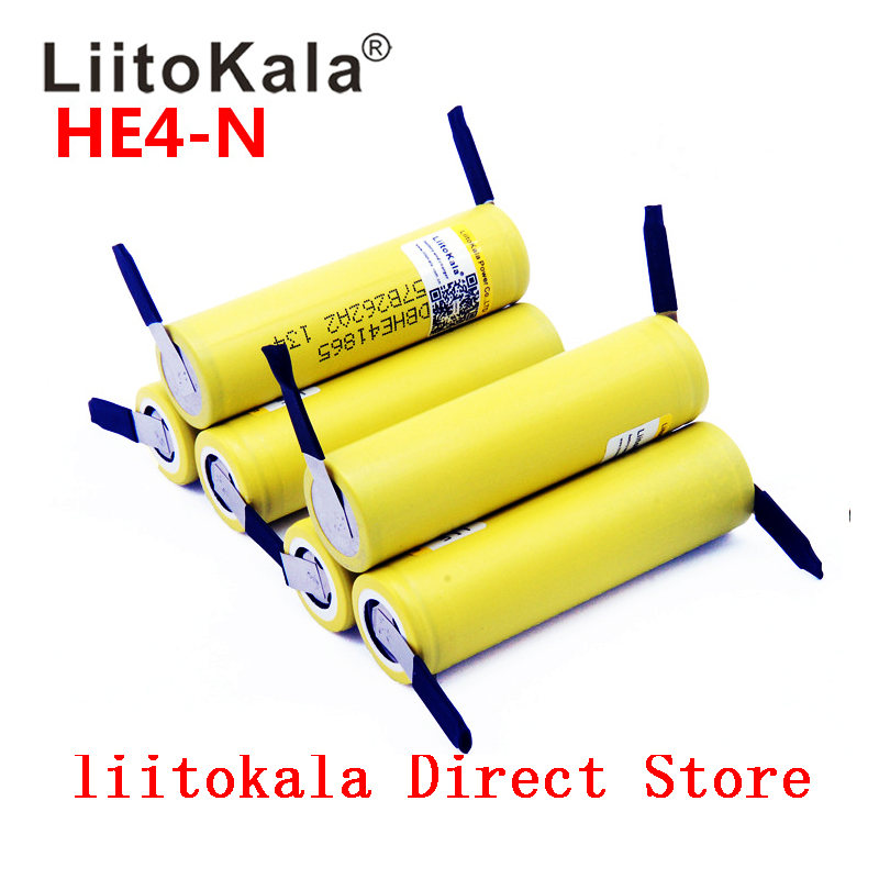 1-10PCS NEW LiitoKala 18650 2500mah 20A 18650 Li-ion Rechargeable Battery Power Safe Battery For Ecig/scooter+nickel