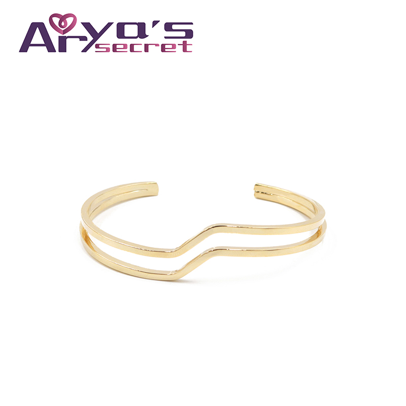 Minimalist H Cuff Bracelets Minimalist Gold Color Female Girls Wristband Han Bangles Jewelry Bracelet For Women Accessories