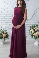 Платье для беременных 2018 Беременность Одежда для беременных Для женщин женские элегантные кружевные платья вечерние Формальное вечернее п