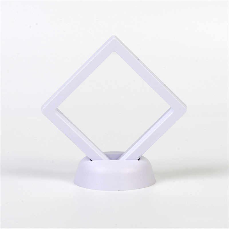 70x70 cm de suspensión transparente de joyería de exhibición de la caja del anillo de soporte flotante suspendido de la caja de la joyería de las monedas de la joyería