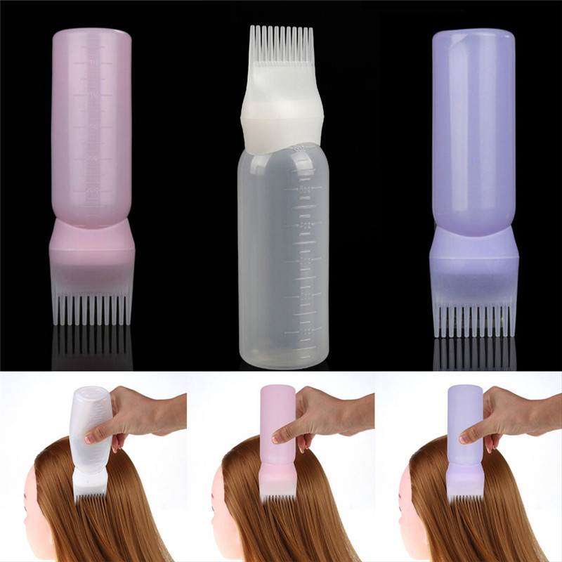 Dyeing Shampoo Bottle Oil Comb Hair Dye Bottle Applicator Tools Hair Dye Applicator Brush Bottles Styling Tool Hair Coloring