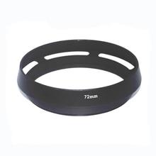 10 unids/lote 72mm 77mm negro ventilado curvado lente de la Cámara de Metal para Leica M para Pentax para Sony para Olympus para canon para nikon