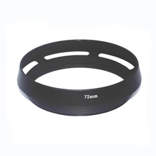 10pcs/lot 72mm 77mm Black Vented Curved Metal camera lens Hood  for Leica M for Pentax for Sony for Olympus For canon for nikon