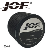 JOF 8Strands 500M Braided Multifilament Super Power PE Fishing Line Rope Peche Spearfishing Cord Wire Peche Carp Winter