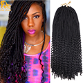 2X Kanekalon Crochet Goddess Locs 24Roots Crochet Braids Curly Faux Locs Hair Braid Ombre Havana Mambo Faux Locs For Black Women