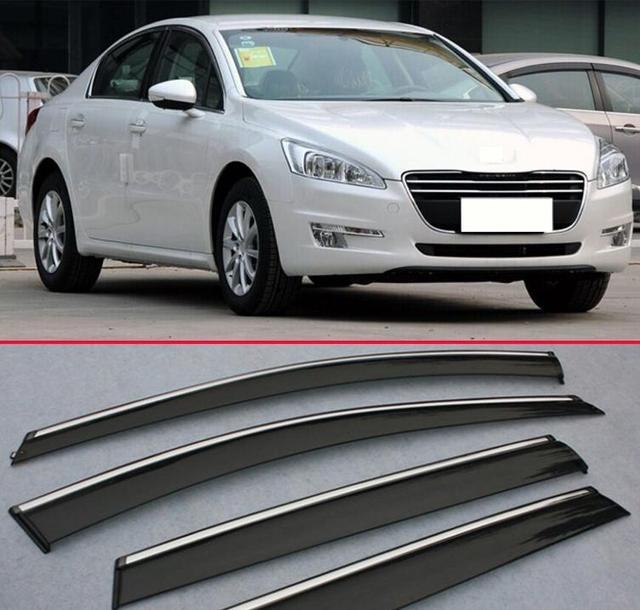 Para Peugeot 508 2011-2015 Ventana Deflector de Viento Del Visera Lluvia/Sol Guardia Vent