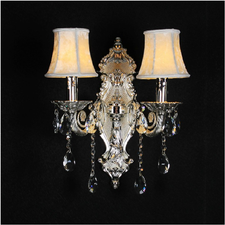 Free shipping European style crystal wall lamp/ bedroom bedside wall lamp/ crystal candle wall lamp/ wholesale and retail