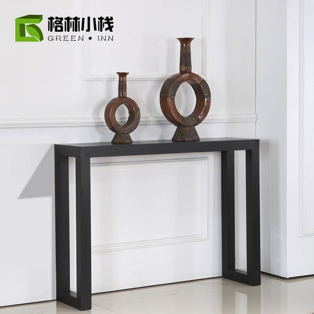Simple Black Cabinet Entrance Hall Living Room Cabinet Table Vestibule  Vestibule Modern Curio Cabinet Cut Off