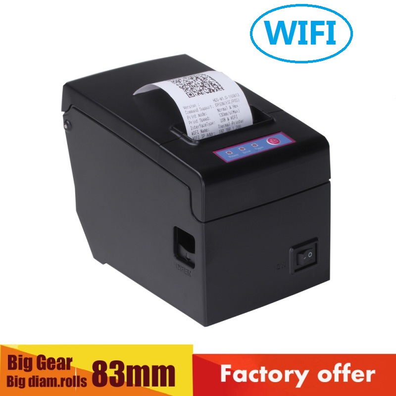 New product 58mm wifi pos printer with 130mm/s high speed printing and support windows10, bitmap download and print HS-E58UW new version usbdm bdm support k60 m0 supports high speed freescale xs128