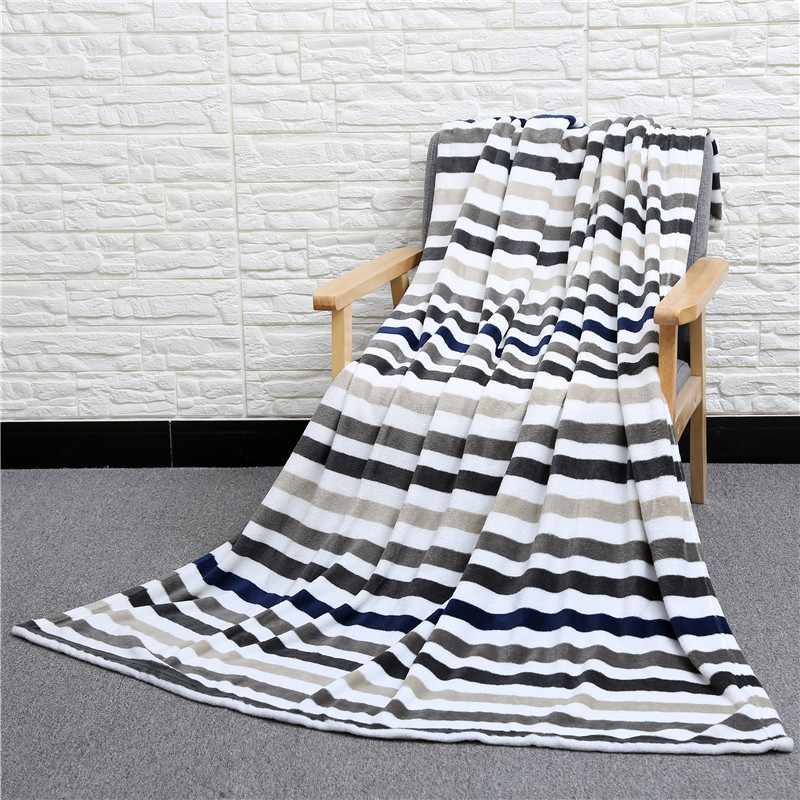 Striped Polyester Flannel Coral velvet Sofa Throws Blanket Bedspread Air Conditioning Blanket On Bed/Car Home Decor CobertorStriped Polyester Flannel Coral velvet Sofa Throws Blanket Bedspread Air Conditioning Blanket On Bed/Car Home Decor Cobertor