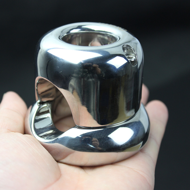 Stainless Steel Scrotum Ring Weight Bearing Pendant,Penis Restraint Testicle Locable Locking Ring Sex Toys for Men B2-2-246
