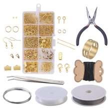 Набор Колье и сережек ручной работы набор колье золотистого