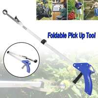 83 cm 픽업 도구 쓰레기 접이식 쓰레기 픽업 도구 그래버 reacher stick reaching grab claw gripper extend reach cleaning tool|수공구 세트|   -