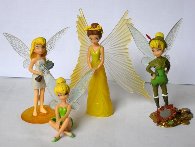 NEW 4pcs Tinker Bell figure gift toy