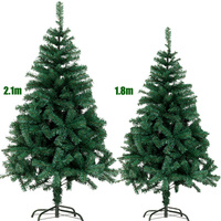 210CM Artificial Christmas Tree 7 Ft Green Cristmas Fake Pine New Year Christmas Decorations Merry Christmas