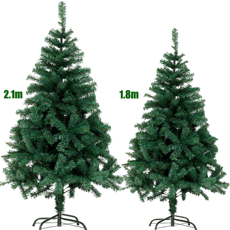180cm 210cm artificial christmas tree 6ft 7ft green cristmas fake pine new year christmas decorations gifts