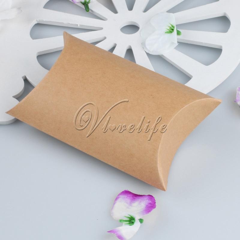 pouch Home Decor Paper Candy Boxes Kraft Gift Bag Pillow Shape Wedding Favors