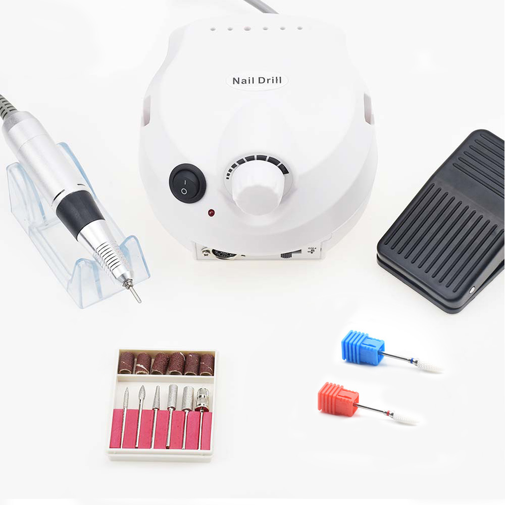 Electric Nail Drill Manicure Machine 30000RPM Accessory Pedicure Kit Set Nail Drill File Bit Nail Art Tools Nail Art Equipment apparatus for manicure nail art drill machine for manicure kit drill file bit sanding accessory 9 heads pedicure machine