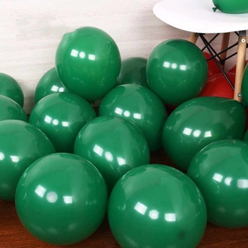 Dark green balloon 30pcs/lot 5/10 inch round latex balloons birthday party decorations adult helium baloons wedding supplies