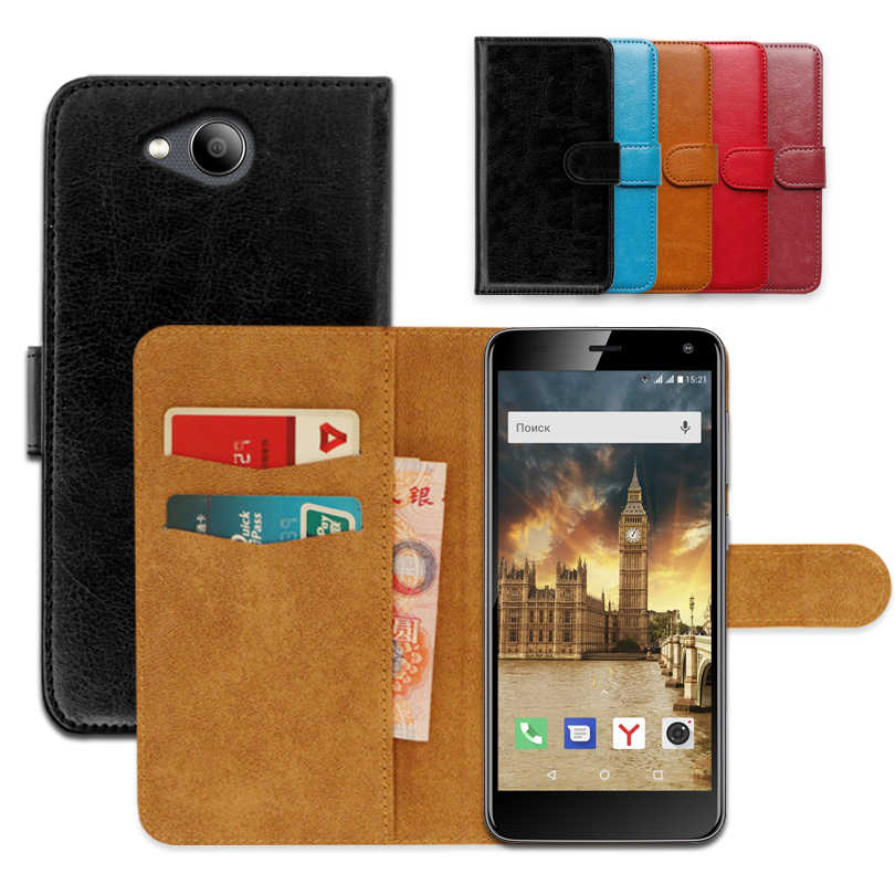Luxury wallet case for Fly Life Compact 4G PU Leather Special Flip Case With Card Pocket Ultra-thin Phone Cover,Kickstand case