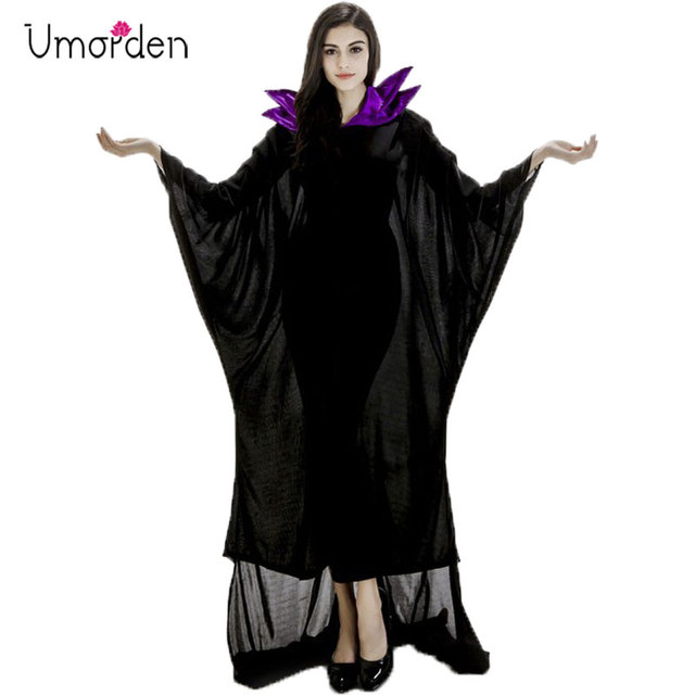 Halloween Costumes Maleficent Horn Black Witch Costume For Women
