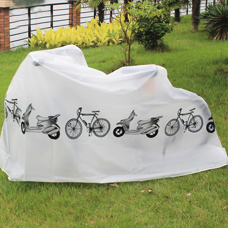 Bicycle Protective Gear Disassemble Waterproof Outdoor Scooter Bike Motorcycle Rain Dust Cover Protector White Bicycle Cover