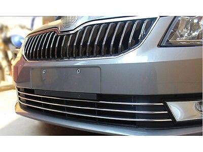 Stainless Front Bottom Grille Cover Trim 3pcs for Skoda Octavia MK3 A7 2015 2016 kit thule skoda octavia a7 hatchback 13