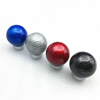 LUNASBORE Carbon Fiber Gear Shift Knob Racing Car Universal Shift Gear Knob For Volkswagen VW Ford Honda