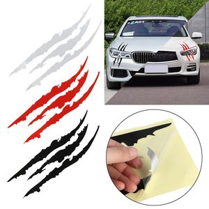 40cm*12cm Car Reflective Monster Sticker Black/White/Red Scratch Stripe Claw Marks Car Auto Headlight Vinyl Decal Car Styling(China)