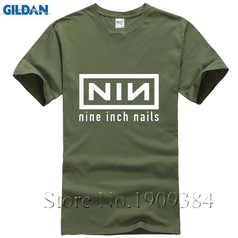 New Fashion Summer Nine Inch Nails Rock Band T shirts Casual Hip Hop ...