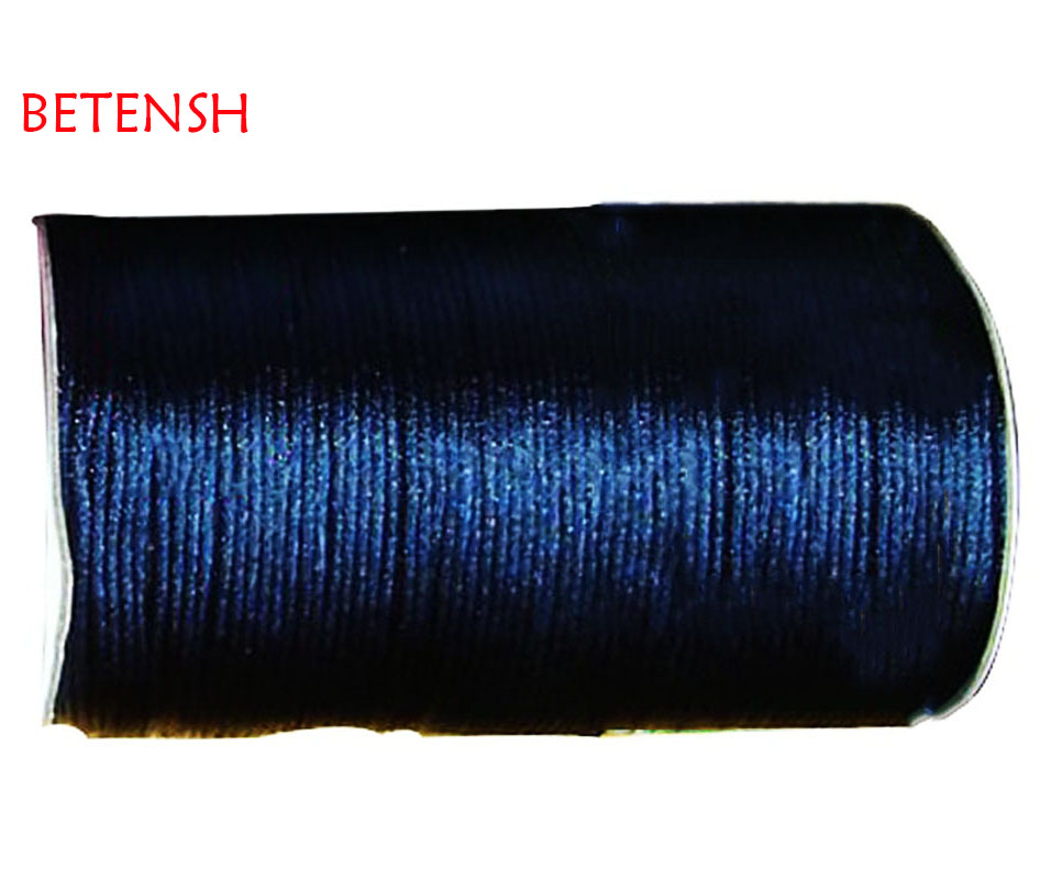 2mm Navy Blue Nylon Cord Jewelry Findings Accessories Rattail Satin Macrame Rope Bracelet Beading Cords 350m/roll
