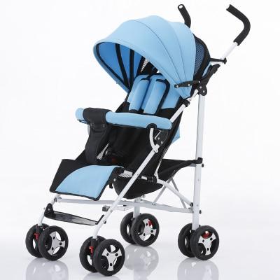 Stroller lightweight portable can sit lie folding four-wheel shock hands push children the umbrella stroller baby car baby stroller lightweight portable folding children four wheel cart