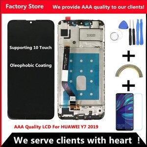 Image 1 - شاشة LCD عالية الجودة باللمس 10 AAA لهواوي Y7 2019 LCD مع إطار شاشة عرض لهواوي Y7 Prime 2019 شاشة LCD Sceen