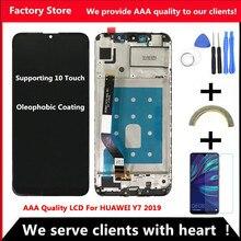 화웨이 Y7 2019 LCD 용 10 터치 AAA 품질 LCD 화웨이 Y7 프라임 2019 LCD Sceen 디스플레이 용 프레임 디스플레이 화면