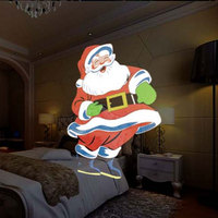 Romatic LED Animation Projector Christmas Light Dynamic Picture Lawn Card Lamp  Waterproof 12 Pattern Changeable Projection Lamp