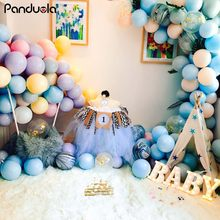 Air dots 10 inch single layer macarons candy color balloons wedding decoration balloon chain birthday party decorations kids(China)