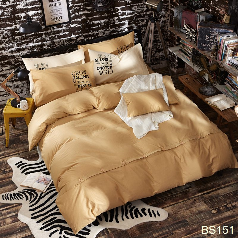 Luxury Solid Home Textile Bedding Set Bed Sheet Pillowcase Bedroom Sets  Canadachina.