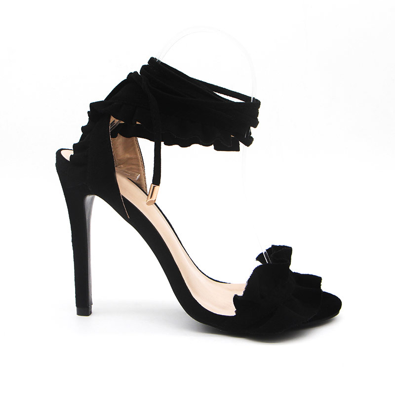 Gladiator Styled Women High Heels Ankle Strap Shoe