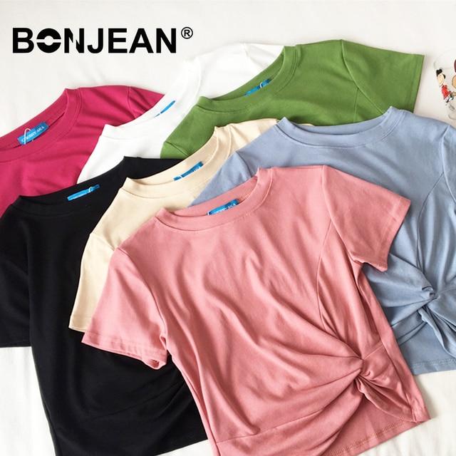 a275abd5bd13 Camiseta básica estilo coreano mujeres blanco negro Rosa Streetwear  Harajuku Top verano camiseta mujer manga corta señoras z103