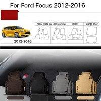5pcs 1 2 Thick Solid Nylon Interior Floor Carpet Mats For Ford Focus 2013 2016