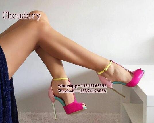 Damen strap Offene Frau T Spitze 2019 as As Party Sandalen Frauen Hochzeit Thin Heels The Sexy Sommer Stiletto High Mischfarben Schuhe Picture Picture qwf00nE4x