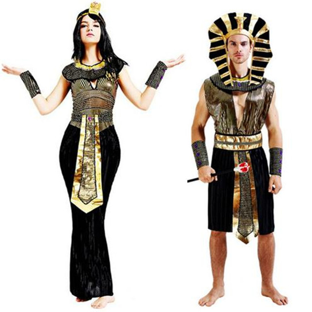a76d97cd1f Purim exótico Cleopatra faraón egipcio trajes para hombres y mujeres de la  fiesta de año nuevo