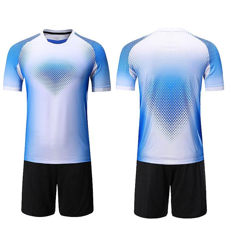 230055d4582 Customized soccer jerseys 2018 2019 kids football jerseys training dress  blank men soccer jerseys sets kids soccer sets uniforms