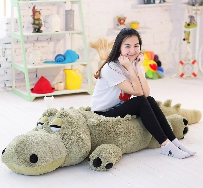 New Arrived 1.7m Big size Crocodile Plush Toy Crocodile Soft Stuffed Doll Vey Soft Doll Plush Gift Toy Gift For Lovers 1pc 140cm donkey doll donkey plush toy good as a gift soft stuffed toy page 9